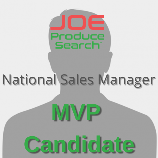 MVP Candidate - National Sales Manager